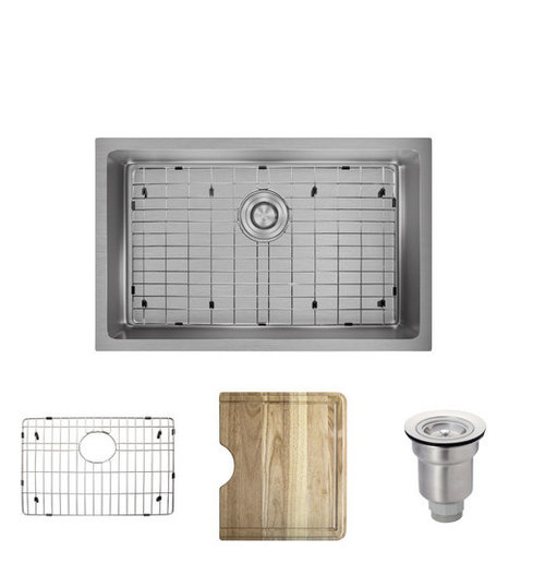 R1 1035s single bowl 34 radius stainless steel sink contemporary r1 1035s single bowl 34 radius stainless steel sink 14 workwithnaturefo