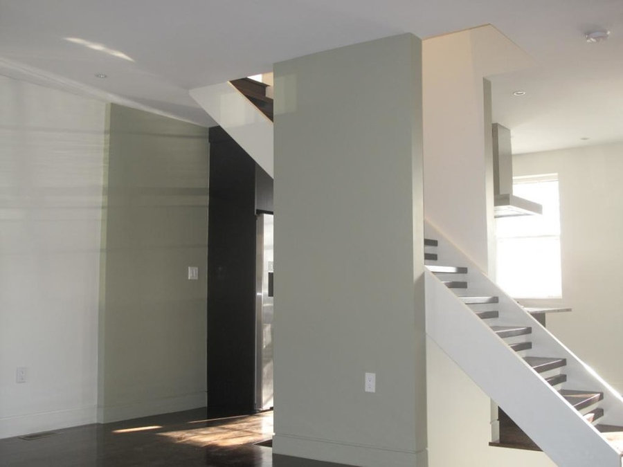 Open Rise Stair with Metal Bar