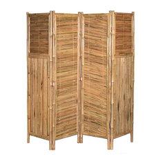 4 Panel Bamboo Screen Middle Diagonal