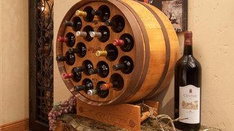 Barrel Wine Rack-Third Barrel