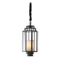 """Hanging Lantern, Eichholtz Monticello S, Black, 10""""x10""""x16"""""""