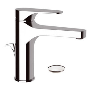 Class Line Chrome Plated Bathroom Sink Mixer, Pop-Up Waste Plug Included, 17 cm
