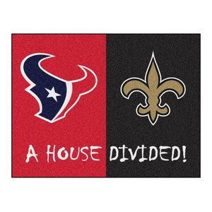 fa2e3fe3 NFL Atlanta Falcons and New Orleans Saints House Divided Rugs 33.75 ...