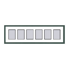 Green Shaker Collage Picture Frame with 6 rectangle openings for 3.5 X 5 photos