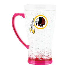 Washington Redskins Crystal Flared 16 Ounce Mug, Pink