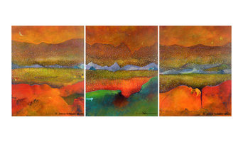 Abstracted Landscape Paintings