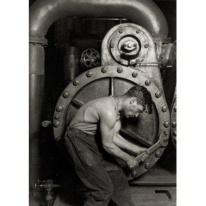 Lewis Hine Steamfitter at Ford Plant Print