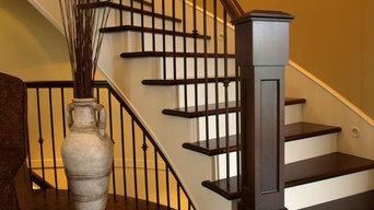 custom staircase and railings