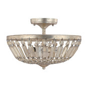 Capital Lighting Fifth Avenue 9173WG 3 Light Semi-Flush Fixture in Winter Gold