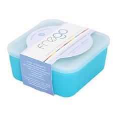 Frego Glass Food Storage, Blue, 2-Cup