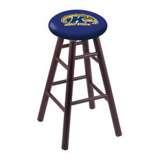 Oak Counter Stool Dark Cherry Finish With Kent State Seat 24-inch