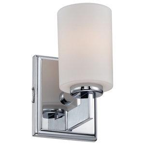 1-Light Small Wall Light, Polished Chrome