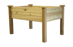 Elevated 2'x4' Cedar Wood Raised Garden Bed Planter Box Unfinished