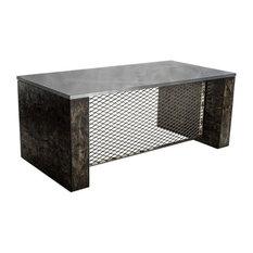 Brushed Steel Executive Desk