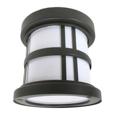 Stratford Old World Bronze and Acrylic Exterior Ceiling Light Fixture
