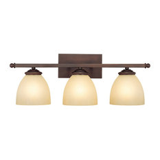 Capital Lighting Chapman 3 Light Vanity Fixture, Burnished Bronze