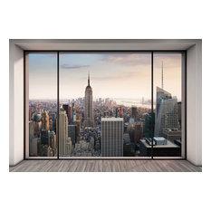 Penthouse New York Skyline Photo Wall Mural, 368x254 cm