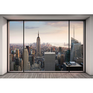 Penthouse New York Skyline Photo Wall Mural, 368x254 cm
