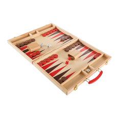 Wood Backgammon Board Game-, Folding Board for Storage by Hey! Play!