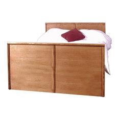 Bullnose Queen Panel Bed Twin Natural Alder