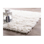 Genuine Eco Friendly Wool Flokati Shag Rug White 6