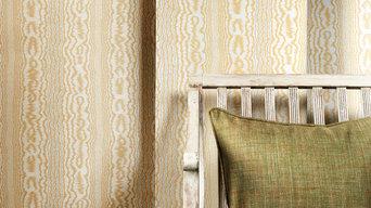 Wallpaper, Tapete klassisch Landhausstil in gold beige