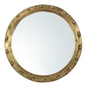 Industrial Brass Rivet Mirror Frame Small