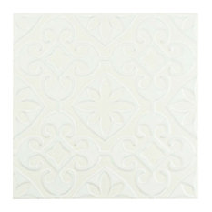 "SomerTile 7.75""x7.75"" Triple Ceramic Wall Tile, Valverde"