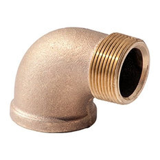 """Everflow Supplies  1"""" Brass 90 Degrees Street Elbow With Threaded Fittings"""