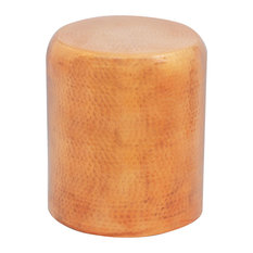VidaXL Hammered Aluminium Cylindrical Stool, Gold