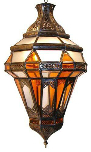 middle eastern artisans brass amber lantern pendant lighting bohemian lighting