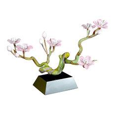 Cherry Blossom Branch Glass Sculpture