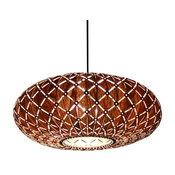 Wood Pendant Light, Galaxy Pendant Lamp, Walnut Veneer