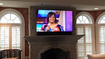 Living Room Fireplace TV