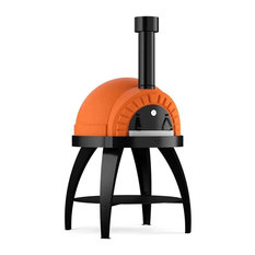 "Cupola 27"" Wood-Fired Pizza Oven on Base, Orange"