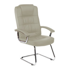 Moore Deluxe Visitor Cantilever Office Chair With Arms, White