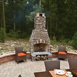 Outdoor Fireplace w/ EP Henry Cast Veneer Stone