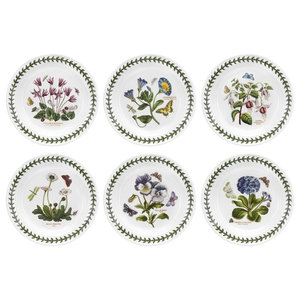 Blue 4 Pack Merritt International Floral Sketchbook 6in salad bowl