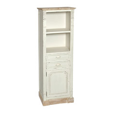 Country Bookcase, 2 Shelves and 1 Cupboard