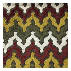 Lennon Cut Velvet Upholstery Fabric, Henna