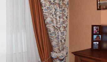 Текстильное оформление коттеджа в поселок Дубрава