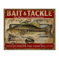 Bait and Tackle, Classic Metal Sign