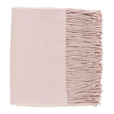Surya Chantel CNL-1006 Solid & Border Woven Throw