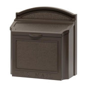 White Hall Decorative Classic Design Wall Mailbox, French Bronze
