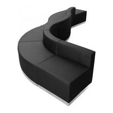 Hercules Alon Series Black Leather Reception Configuration 6 Pieces