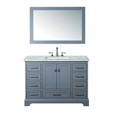 Newport Bathroom Vanity With Mirror Gray 48-inch Single Sink