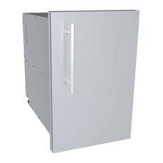 "Designer Series, Raised Style, 15"" Single Door Dry Storage Pantry"