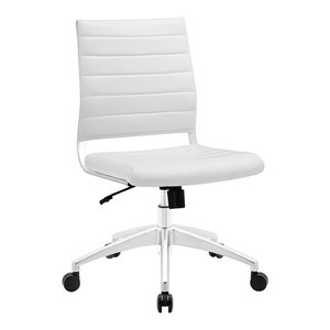Jive Mid-Back Office Chair in White Finish