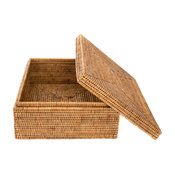 Artifacts Rattan Storage Box, Honey Brown