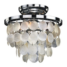 3 Light Capiz Shell Flush Mount